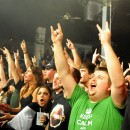 The sold out crowd at Club Fever reacts to Sevendust's arrival on stage.