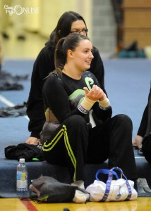 Tippecanoe Valley's Barbie Kimmel will compete on beam this weekend.