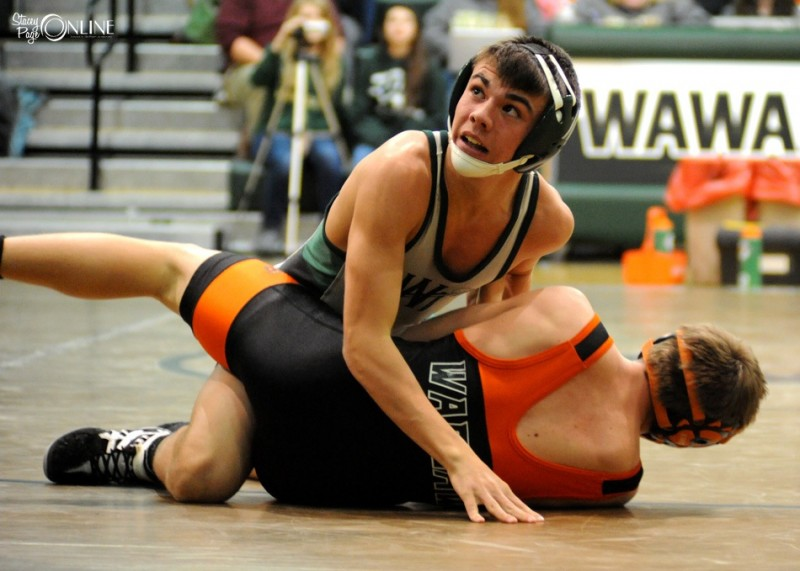Freshman Tristan Ponsler will be one of three Wawasee wrestlers competing Saturday in the semi state at Merrillville.