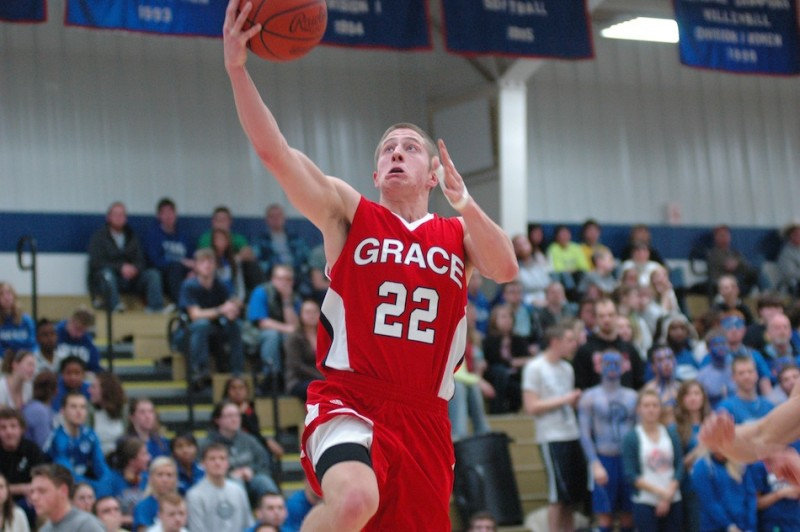 Grace's Elliot Smith, a former standout at Northridge High School, will be a key man for the Lancers in the NAIA National Tournament (Photo provided by Grace College Sports Information Department)