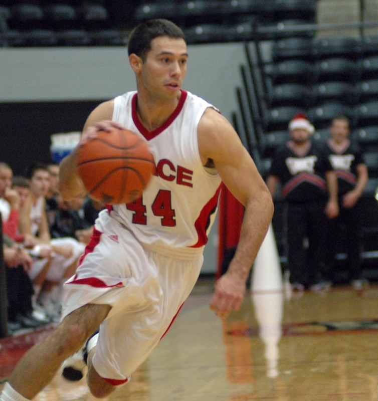 Grace College senior guard Bruce Grimm Jr., who hails from Rochester, will lead the Lancers into the NAIA National Tournament on Thursday (Photo provided by Grace College Sports Information Department)