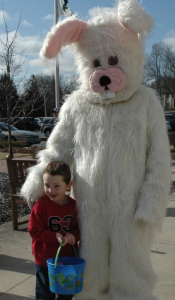Jace and Easter bunny