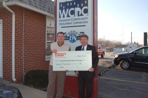 check presentation to Warsaw Kosciusko Chamber
