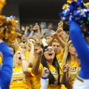 Triton's cheer block let themselves be heard.