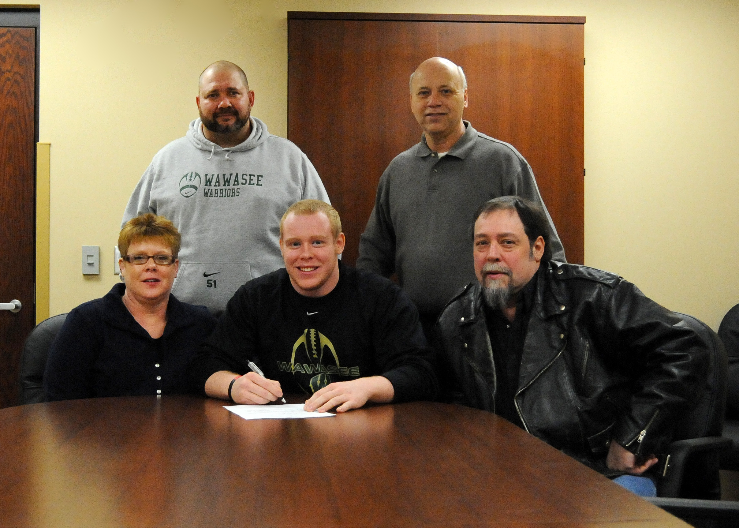 Wawasee High School senior Chad Eppley will continue his football career at the University of Indianapolis. (Photo by Mike Deak)