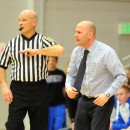 Triton head coach Jason Groves nearly walks to half court trying to get Joey Corder's attention.