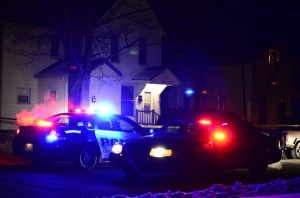 Police investigate the scene of an alleged homicide on North Fort Wayne Avenue in Warsaw. (Photo by Stacey Page)