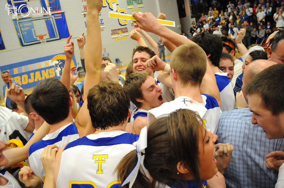 Pandemonium broke out after Triton were crowned regional champions.