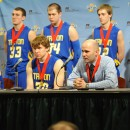 Triton's team attend the postgame press conference.