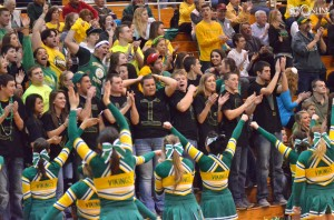 Tippecanoe Valley fans show their true colors.