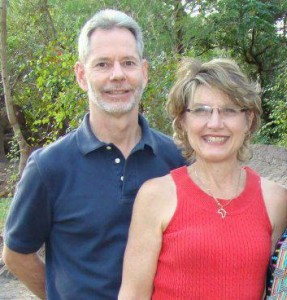 Warsaw native Jerry Krause, shown in this Facebook photo with his wife, Gina, has been missing in Africa since April 7.
