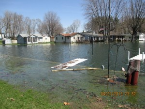 Sechrist Lake residents are dealing with flooding problems as the water level continues to rise. (Photo provided)