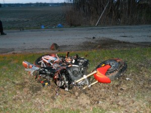 Robert C. Moore, 32, of Warsaw, was killed Monday night when his motorcycle slammed into a tree on CR 350 North. (Photos provided by Kosciusko County Fatal Accident Crash Team)