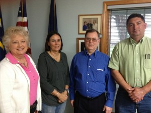 From left are Lynn Howie, Janice Workman, Terry Howie and Mark Nunez. Terry Howie was voted onto the Winona Lake Town Council Thursday night by caucus. (Photo by Stacey Page)