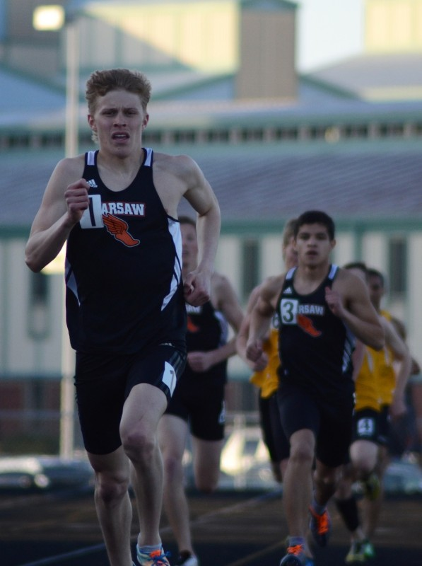 Senior Jake Poyner, shown competing versus Northridge on Monday, will be a key performer as Warsaw hosts the Max Truex Invitational Friday night (Photos by Jim Harris)