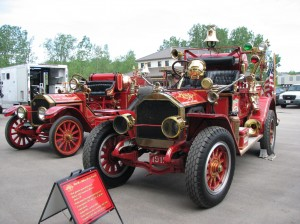 """The Warsaw-Wayne Fire Territory provided contestants a glimpse of the """"World's Oldest Fire Trucks"""".  (photo provided by Kevin Denlinger)"""