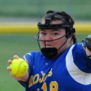 Triton pitcher Brycelyn Garbison fires an offering.