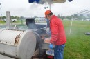 Barbecue hog, chicken and hot dogs are available, as is a beer tent, until 5 p.m. at the fairgrounds.