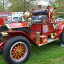 Antique fire trucks are on display throughout today's event.