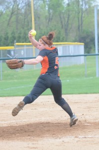 Whitney Sleeth pitched a strong game for Warsaw Friday night.