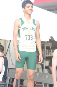 JJ Gilmer is all smiles on the awards podium at the State Finals Friday (Photo by Scott Davidson)