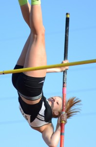 Claire Hickerson took second place in the pole vault for Warsaw in the sectional.