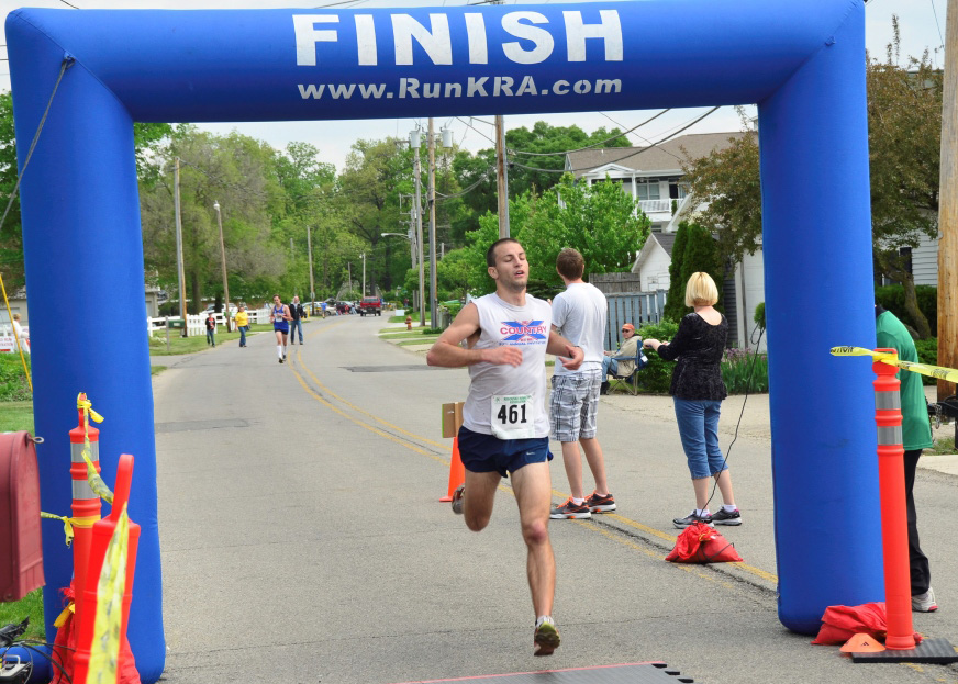 Tyler Alles of Ligonier was the overall winner of the Junior Achievement 5K held Saturday in Syracuse. (Photos provided)