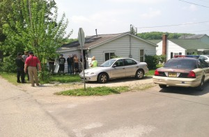 Jonathen Lovelace, 20, of Warsaw, was found hiding in this Pierceton residence following an armed robbery at a liquor store. (Photo by Kosciusko County Sheriff's Department)