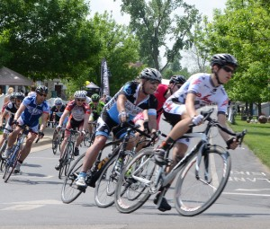 Criterium races were among a series of events that took place during the weekend-long Fat & Skinny Tire Fest. Criterium races were held on the island in Winona Lake.