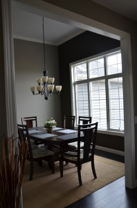 Among the many aesthetic touches added to the home by students was the inclusion of a 12 foot ceiling in the dining area of the home. (photo provided)