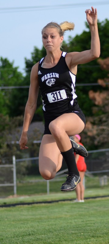 Freshman Sam Alexander sailed to a fourth-place finish in the long jump for the Tigers.
