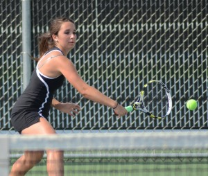 Jacqueline Sasso turned in a strong performance at No. 2 singles with a 6-0, 6-0 win for Warsaw Friday night.