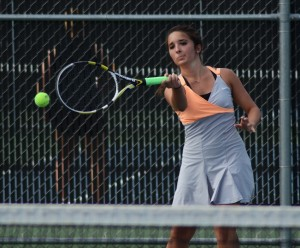 Jacqueline Sasso was dominant at No. 2 singles for  Warsaw in a sectional win Wednesday.