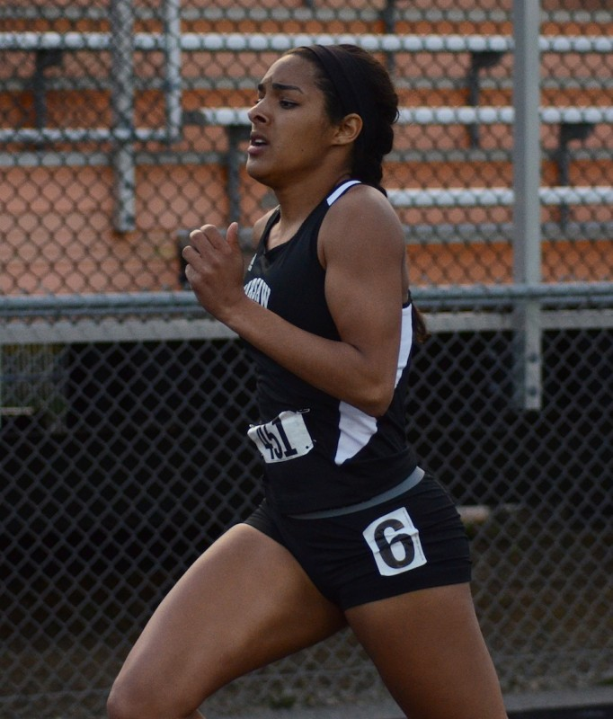 Tennie Worrell, shown winning the 400 at the recent NLC Meet, will be one to watch for the host Tigers in sectional action.