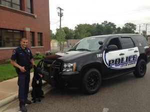 Warsaw Patrol Officer Phil Reed and his new K-9 partner, Dax, are now patrolling the streets of Warsaw. (Photo provided)