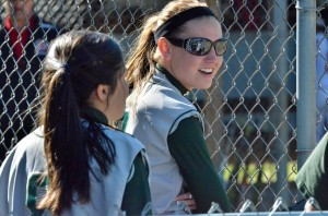 Wawasee's Ashlynn Fisher smiles during play against Goshen. Fisher scored a key run in the fourth inning.