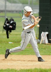 Wawasee's Lucas Garza takes a cut in game one of the Wawasee JV Invite Saturday. (Photo by Mike Deak)
