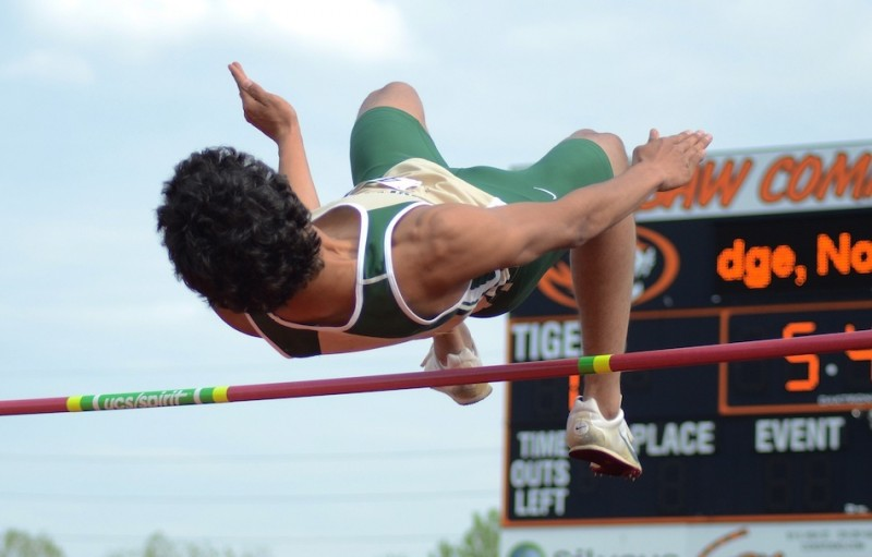 Wawasee's JJ Gilmer, shown at the NLC Meet earlier this season, placed fourth in the high jump at the State Finals Friday in Bloomington (File photo by Jim Harris)