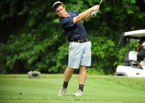 Joel Haines works during LCA's first-ever sectional tournament.