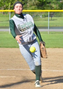 Kylie Norris tossed a two-hitter at Goshen.