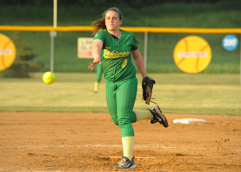 Tippecanoe Valley pitcher Kassidy Shepherd weathered the storm Monday night against NorthWood, but could not Tuesday against Fairfield.