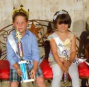 Cutie Pageant winners and runners up, from left, Ryan Mack,third runner up;  Haydenn Mitchell, second runner up; Luke Keim, first runner up; Cooper Garden, Cutie King; Alexia Cox, Cutie Queen; Ella Beers,first runner up;  Emma VanPuffelen second runner up; and Laura Baker, third runner up