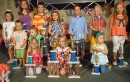 The Cutie Parade winners, front row (from left): Kaitlyn Fouts, Ashlynn Corn and Mallory Szynal; second row: Everett Guy and Jaxon Nabinger; third row: Ella Beer, Brownwyn Bonner, Devin VanLue, Quincie Stump, Cooper Garden, Carter Grady and Macy Moore. (Photo by Stephanie Loney)