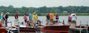 Hundreds of boaters and boating enthusiasts turned out to view the watercraft.