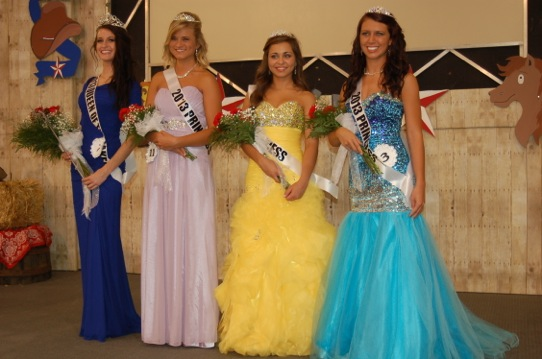 Kayla Courtney, 2013 Mermaid Queen of Lakes is shown with her court Kiersten Bailey, Morgan Kleppe and Tina Maciaga