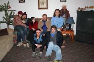 The cast is  from the left fron t row, Derick Gamble and Taylor White. In the back are Madison Hart, Owen Stech, Cindy Dar Nei, Todd Lucas, Adair Silver, Jessica Hardy. (Photo provided)