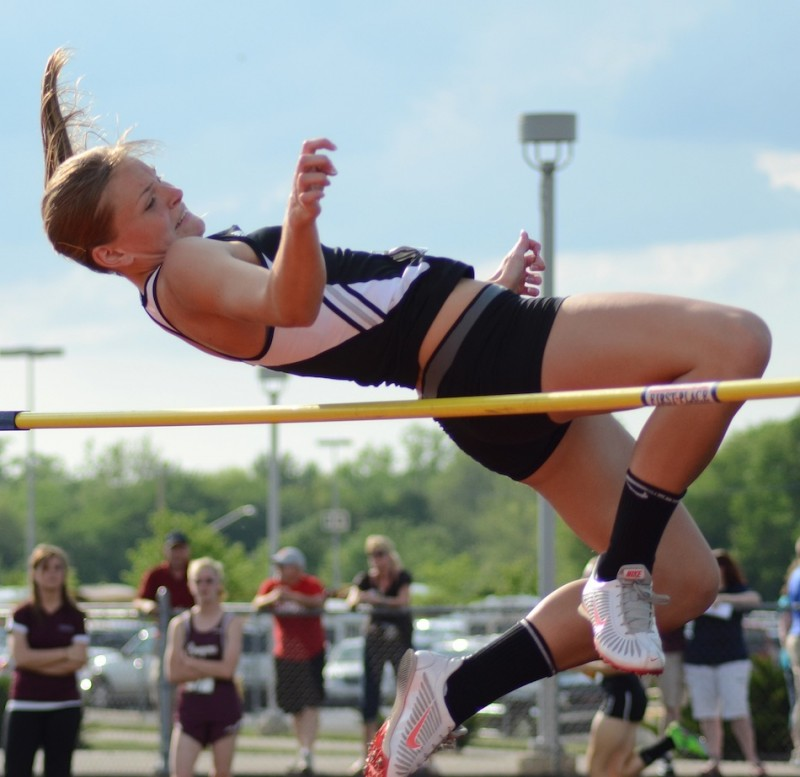 Warsaw high jumper Jamie Lacheta will compete in the Midwest Meet of Champions in Fort Wayne June 15 (File photos by Jim Harris)