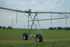 This farm irrigation system along the west side of Old SR 15, just south of Milford, is one of many installed in the area since the summer of 2012 drought. (Photo by Tim Ashley)
