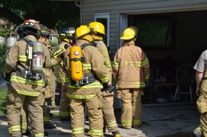 Members of the Seward Township/Burket Fire Department responded to a home fire at 3674 S. SR 25, Burket, near Palestine Lake. (photo by Alyssa Richardson)