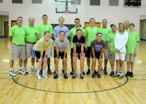 The 2013 Tournament of Champion scholarship winners and staff are, in front from left, Kylee Ort, Adriana Ganz, Amy Walker and Emily Hickerson. In the back row are Dan Gause, Keith Bollman, Derek Snep, Matt Ray, Zac Erba, Brian Willoughby, Stephen Possell, Jace Stewart, Gretchen Willaman, Mitch Willaman and Brett Willaman. (Photos by Mike Deak)